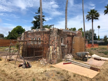 deconstruction of well house begins