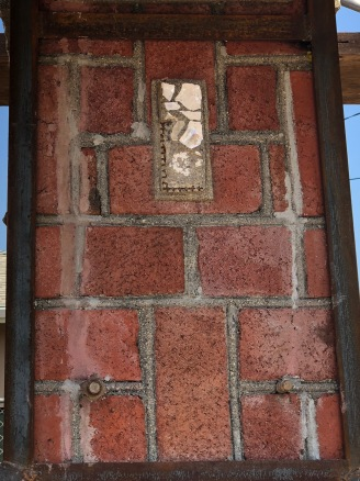 Fissure repair with brick color mortar