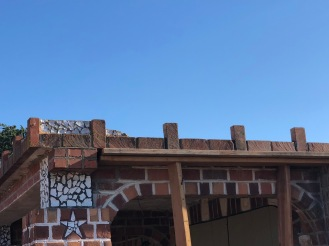 Repairing the missing roof line detail...next step, replacing the abalone detail