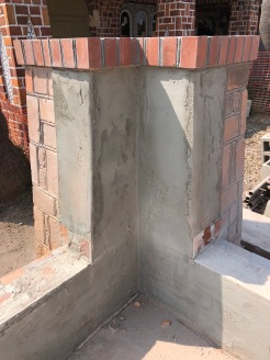 Next layer to finishing the well house homage columns