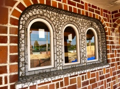 Windows giving new life to the Red Brick Castle