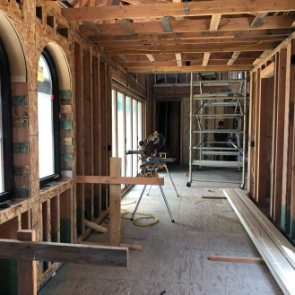 the view from our master bedroom down the breezeway looking at those doors from the inside next to the dining/living room