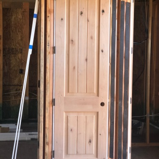The look of our interior doors...knotty alder wood