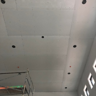 Even the ceilings get drywalled...ugh...so high up there!