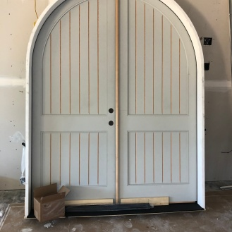 Big front door ready for install