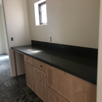Laundry room counter installed
